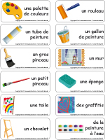Étiquettes-mots - La peinture