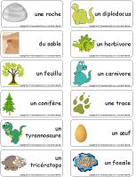 Étiquettes-mots - Les dinosaures