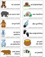 Étiquettes-mots - Les ours