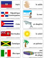 Étiquettes-mots - Les pays chauds