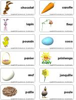 Étiquettes-mots - Pâques