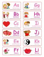 Étiquettes-mots-Abécédaire Saint-Valentin