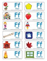 Étiquettes-mots-Lettre F
