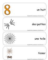 Étiquettes-mots géants - Les araignées