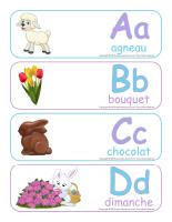 Étiquettes-mots géants-Abécédaire Pâques