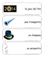 Étiquettes-mots géants-Bonne année 2014