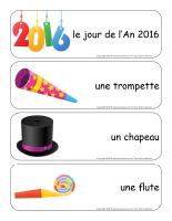 Étiquettes-mots géants-Bonne année 2016