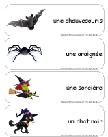 &Eacute;tiquettes-mots g&eacute;ants Halloween-Dans le noir