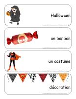 Étiquettes-mots géants-Halloween