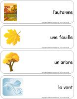 Étiquettes-mots géants-L'automne