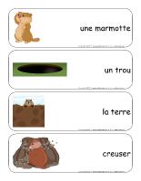 Étiquettes-mots géants-Le jour de la marmotte