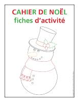 Fiches d'activité-Cahier de Noël 2013