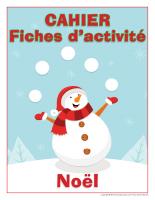 Fiches d'activite-Cahier de Noel