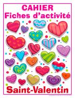 Fiches d'activité-Cahier de la Saint-Valentin