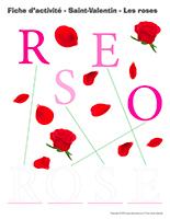 La saint valentin les roses activit s pour enfants - Idee activite saint valentin ...