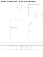Fiches d'écriture - F comme forme
