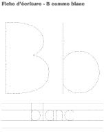Fiches d'écriture-B comme blanc