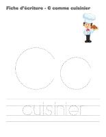 Fiches d'écriture-Cahier des métiers