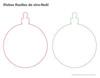 Fiches-ficelles de cire Noel