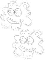 Guirlande - Les microbes