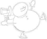 Guirlande-Janvier en blanc