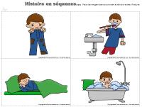 Histoire en séquence - Hygiène corporel