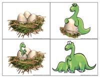 Histoire en séquence - Les dinosaures