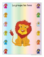 Identification groupe-les lions