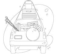 Image à colorier - Les moyens de transport