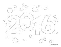 Image à colorier-Bonne année 2016