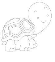 Image à colorier-Les tortues