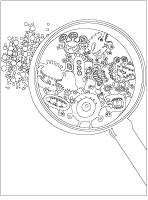 Images à colorier - Les microbes