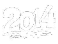 Images à colorier-Bonne année 2014