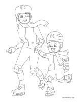 Images à colorier-L'hiver-1