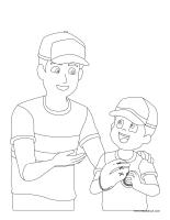 Images à colorier-La fête des Pères 2015