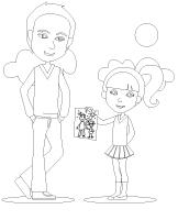 Images à colorier-La fête des Pères