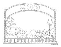 Images à colorier-Le zoo