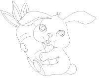 Images à colorier-Les lapins