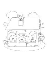 Images à colorier-Ma maison