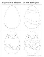 J'apprends à dessiner-Un œuf de Pâques 2014