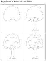 J'apprends à dessiner-Un arbre