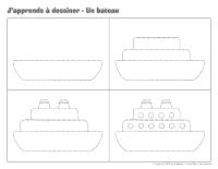 Transport nautique activit s pour enfants educatout - Bateau a dessiner ...