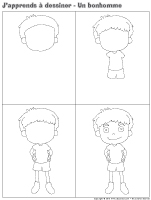 J'apprends à dessiner-Un bonhomme 2