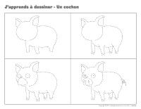 La porcherie activit s pour enfants educatout - Cochon a dessiner ...