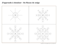 J'apprends à dessiner-Un flocon de neige-2