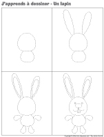 J'apprends à dessiner-Un lapin