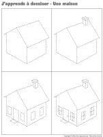 J'apprends à dessiner-Une maison 2