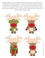 Jeu Quatre rennes du pere Noel