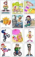 Jeu d'images - La sécurité estivale