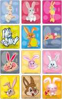 Jeu d'images - Les lapins